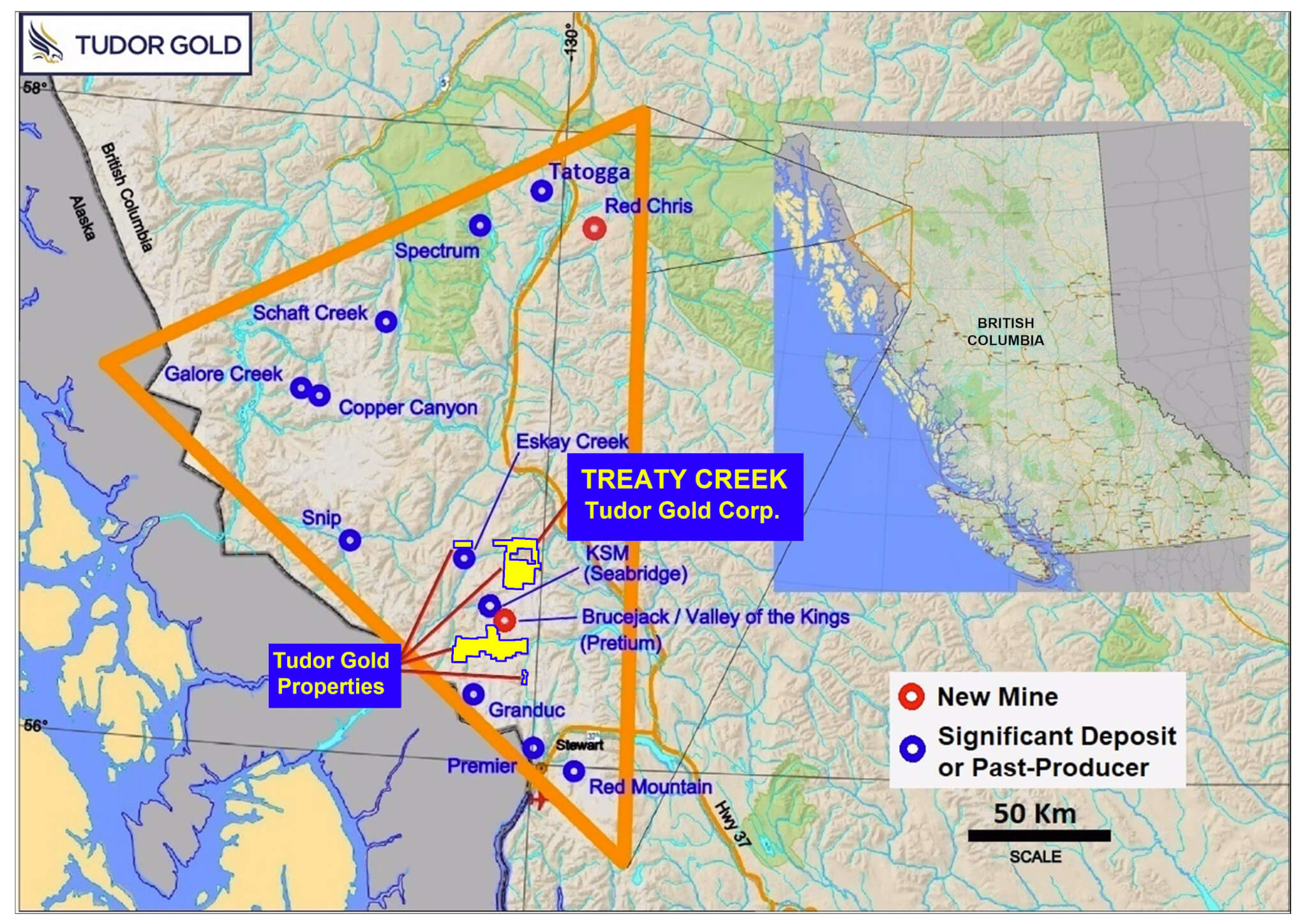 Gold Mines In Canada Map TUDOR GOLD – The newest major discovery in the Golden Triangle